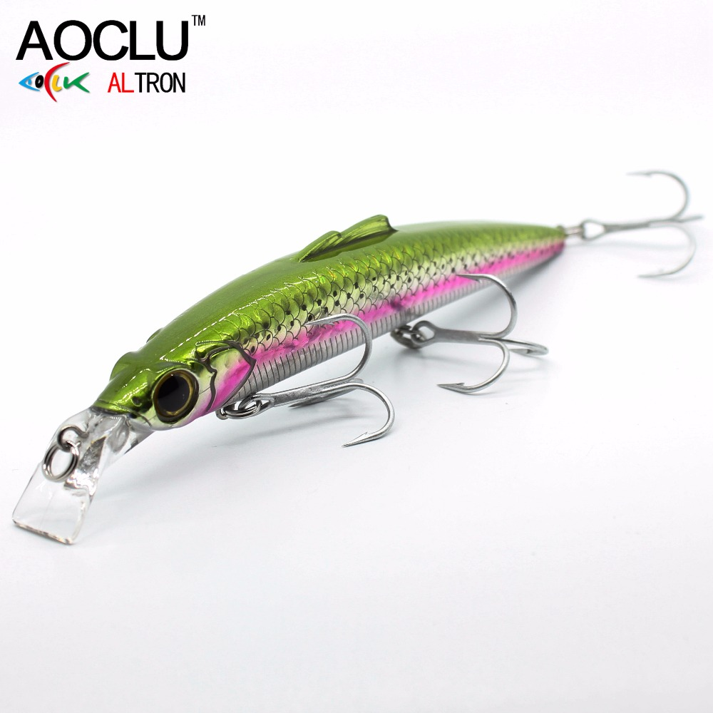 AOCLU lures wobblers Jerkbait 150cm 27g Hard Bait Minnow Crank fishing lure saltwater Bass Fresh VMC hooks 6 colors LURE tackle 10pcs 7 5cm soft lure silicone tiddler bait fluke fish fishing saltwater minnow spoon jigs fishing hooks