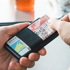 Кошелек NewBring Slide из углеродного волокна, держатель для карт для мужчин и женщин