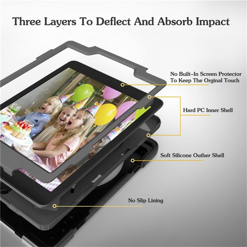 Hmsunrise Za Samsung Galaxy zavihek 9.7 etui T550 T555 Otroški varni - Dodatki za tablične računalnike - Fotografija 4