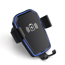 Fashion QI Wireless Car Charger Automatic Gravity Air Vent Car Phone Holder Stand for iPhone 8 Plus X XS Max XR Samsung S9 S8 S7