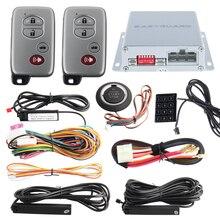 Хорошее качество ПКЕ автосигнализации дистанционный двигатель старт/стоп, кнопка старт/стоп и Сенсорный ввод пароля, авто окно закрыть