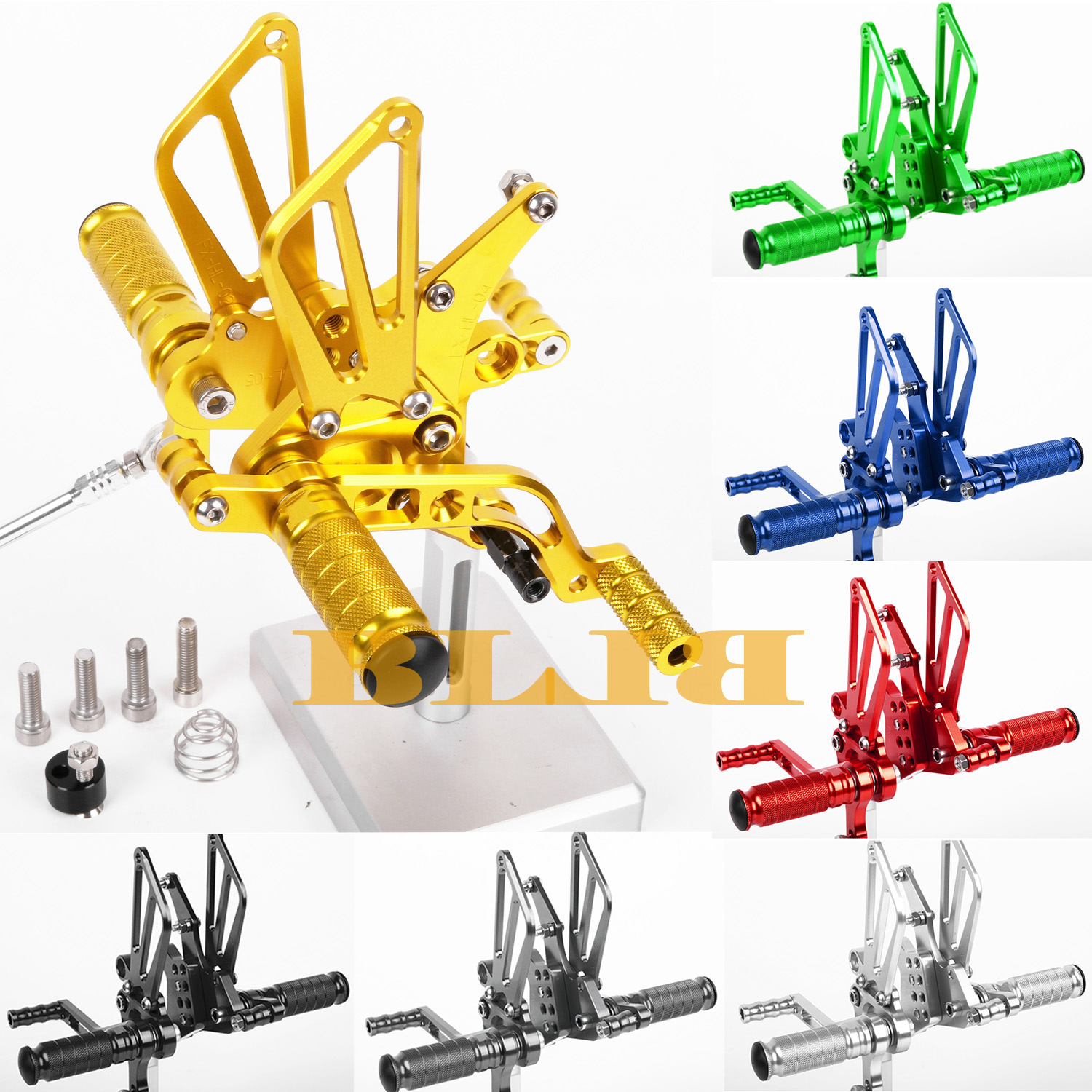 8 Colors For Benelli BN600 2013 Motorcycle Footrests CNC Rearsets Adjustable Foot Pegs Rear Set Motorbike Footpegs