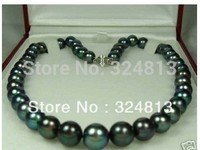 8 9mm Black Tahitian Cultured Pearl Necklace 981