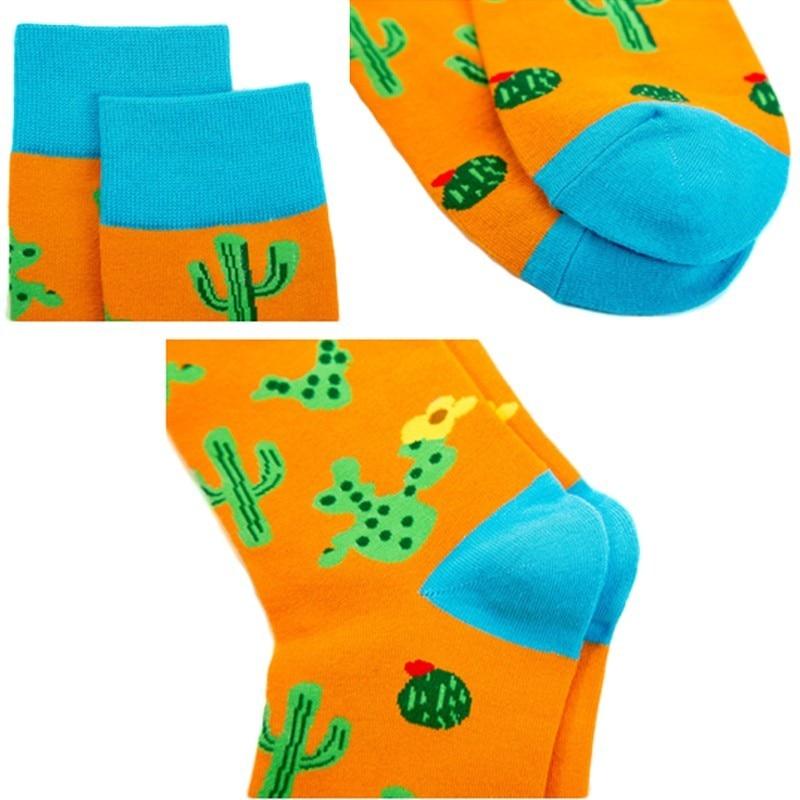Underwear & Sleepwears Beautiful Peonfly New Print Animals Plant Cute Cartoon Panda Octopus Whale Cactus Pattern Personality Pirate Flag Fashion Men Cotton Socks