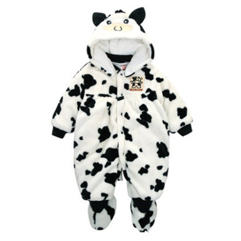 New 2016 Winter Outfit Baby Romper Suit Thickening Clothes Keep Warm Cotton Coat Winter Jacket Polar Fleece Clothing Jumpsuits