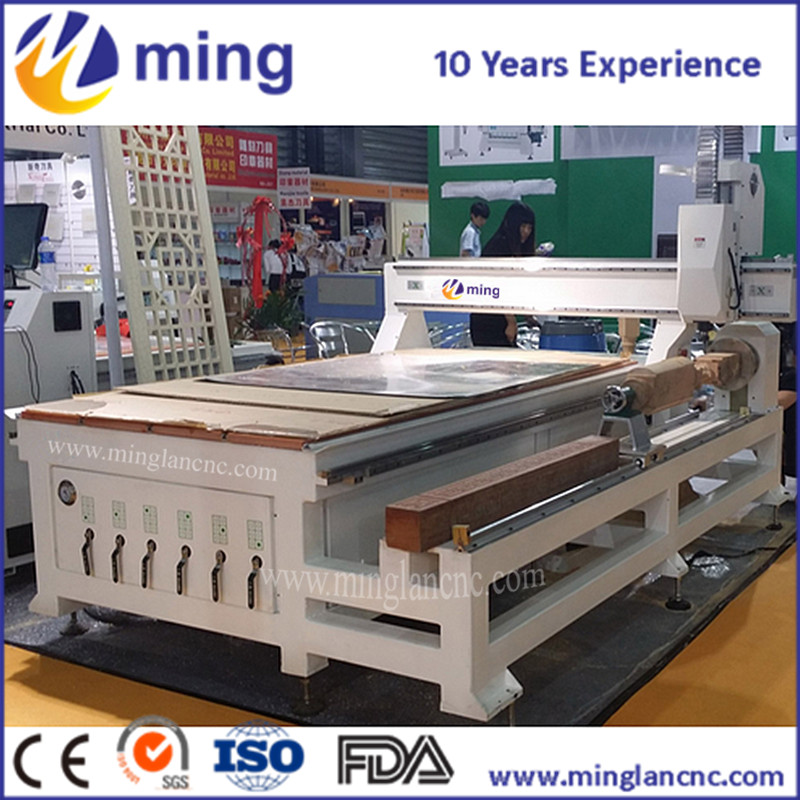 1325 4 Axis CNC Router machine / Stone CNC engraving Machine cnc router/Minglan cnc router