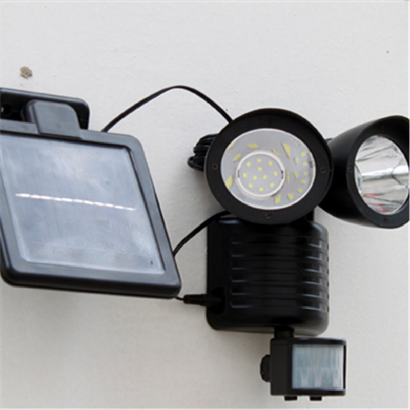 Super Bright LED Solar Panel Double Headlights Wall Street Light Motion Sensor Waterproof Outdoor Garden Lamp Emergency lighting emergency auto led solar panel double head lights motion sensor outdoor garden waterproof lamp spotlights super bright lighting