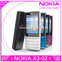 Original Nokia X3-02 3G Mobile Phone 5.0MP with Russian Keyb