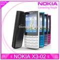 Restaurado original nokia x3-02 3g 5.0mp teléfono móvil con teclado ruso 5 colores en el envío libre