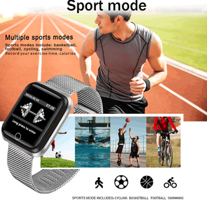 Image 2 - LIGE New Smart Bracelet IP67 Waterproof Fitness Tracker Heart Rate Monitor Pedometer gold plated Strap Smart Electronic Clock