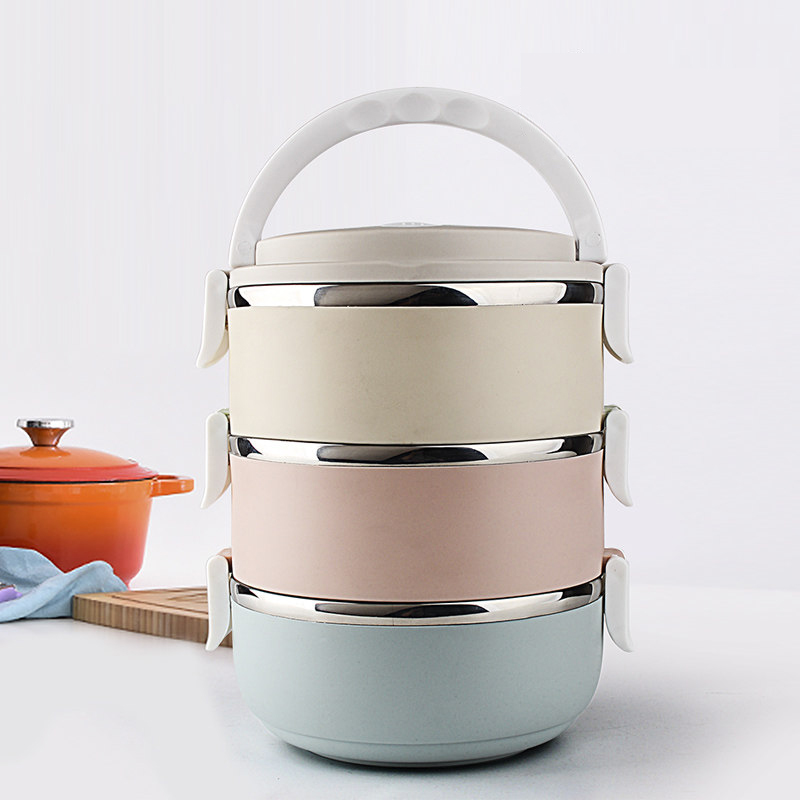 3 Layers Portable Stainless Steel Japanese Bento Box Gradient Color Thermal  For Food With Containers Lunch Boxs For Kids Picnic-in Dinnerware Sets from  Home ...