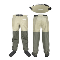 Original JEERKOOL Fly Fishing Waders Wading Pants With Waistband Belt Overalls Men's Waterproof Cloth Breathable Foot For Shoes