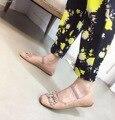 2016 Mary Janes Zapatos de Color Rosa Negro Zapatos Planos Rhinestone Pajaritas Bailarinas Dames Schoenen Femme Chaussures Ballerines