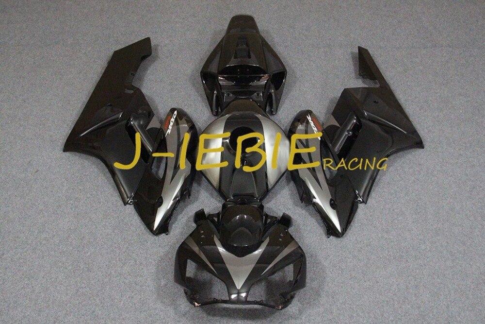Black silver Injection Fairing Body Work Frame Kit for HONDA CBR1000RR CBR 1000 CBR1000 RR 2004 2005