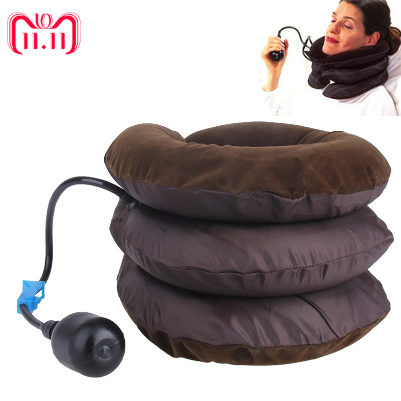 Air Cervical Soft Neck Brace Device Headache Back Shoulder Pain Cervical Traction Device Comfortable Neck Massage Relaxation neck pillow inflatable air cervical neck traction neck support soft brace device unit for headache head back shoulder neck pain