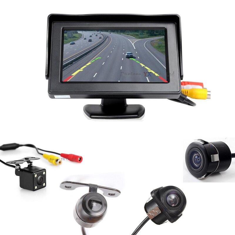 Koorinwoo Véhicule Hight Résolution Voiture TFT LCD Parking Moniteur 800*480 avec vision nocturne caméra de recul automatique parking Assist