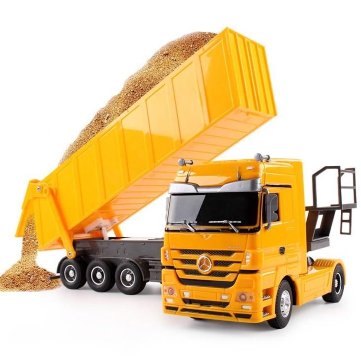 2,4 GHZ gran juguete RC volquete basculante carrito de Control remoto camión propina Auto de ingeniero de contenedor coche regalo de juguetes brinquedos