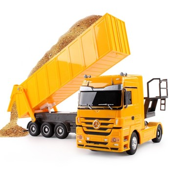 Carro volquete de juguete RC grande de 2,4 GHZ con Control remoto camión propina Auto Lift Engineer contenedor coche juguetes regalo brinquedos