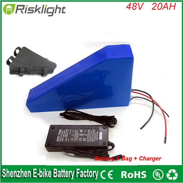 Ebike Battery 48v 20Ah Electric Bike Battery 48V 1000W bafang  with  30A BMS Lithium Battery 48V triangle style Battery Pack 48v 34ah triangle lithium battery 48v ebike battery 48v 1000w li ion battery pack for electric bicycle for lg 18650 cell