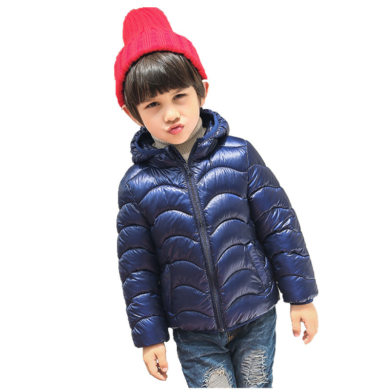 2017 Winter Coat Girl Kids Children Thick Warm Cotton Down Padded Hoodies Coats Baby Girls Boys snowsuit Overcoat Clothes W105 2017 winter baby coat kids warm cotton outerwear coats baby clothes infants children outdoors sleeping bag zl910