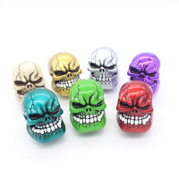 Dongzhen Human Carved Skull Head Car Gear Shift Knob Shifter Lever Universal Fit For Manual Transmission