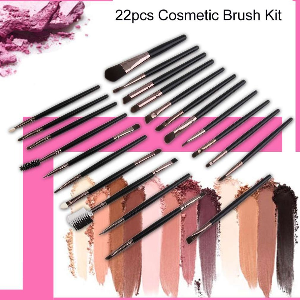 22pcs/set Professional Personal Use Powder Blush Foundation Eyeshadow Eyeliner Lip Cosmetic Brush Kit Facial Beauty Tools а а шевченко управление временем при проектировании имитационных моделей