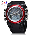 OHSEN Analog Digital LCD Dual Time Watch Reloj Hombre Relogios Masculino Waterproof Mens Boys Sport Watches Military Wristwatch