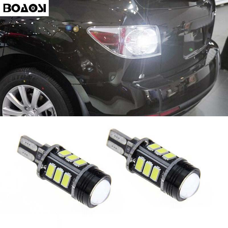 BOAOSI 2x White Canbus LED 921 T15 W16W LED Car Reverse Light lamp For mazda 8 cx-3 cx3 cx-5 cx5 8 cx 5 m8 rx8 m5 2008