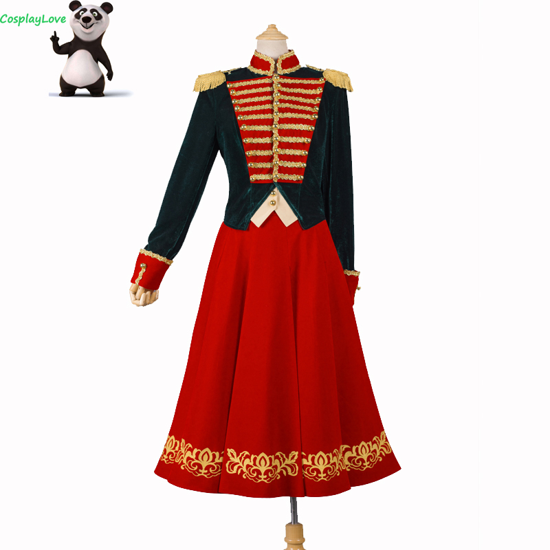 CosplayLove The Nutcracker And The Four Realms Movie Clara Cosplay Costume Dress Military Uniform For Halloween
