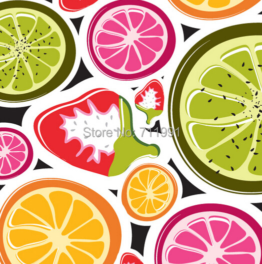 Online Shop Free shipping custom 3D Funky Fruits Food Wall Mural
