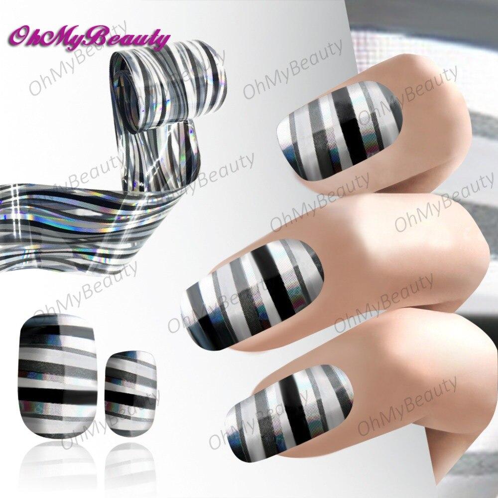 Nail Art Zebra Stripes: Blingbling Zebra Nail Foil Hollywood Stripes Nail Sticker