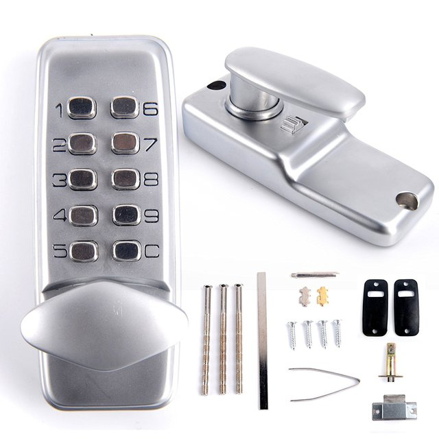 Zinc Alloy Digital Keypad Entry Code Setting Lock For Door Located On Door  Knob