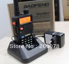 Новый Baofeng УФ 5R двухстороннее радио UV-5R Dual Band рация VHF/UHF трансивер fm-радио SOS Яркий Фонарик + аксессуары
