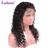 Luduna Lace Front Human Hair Wigs With Baby Hair Deep Wave Lace Wigs Brazilian Hair Wigs