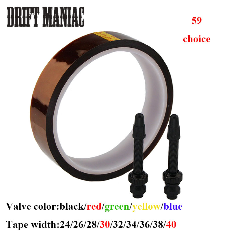 Bike Bicicleta 24/26/28/30/32/34/36/38/40mm MTB bicicle bicycle valvulas tubeless tape /bici Presta tubeless valve