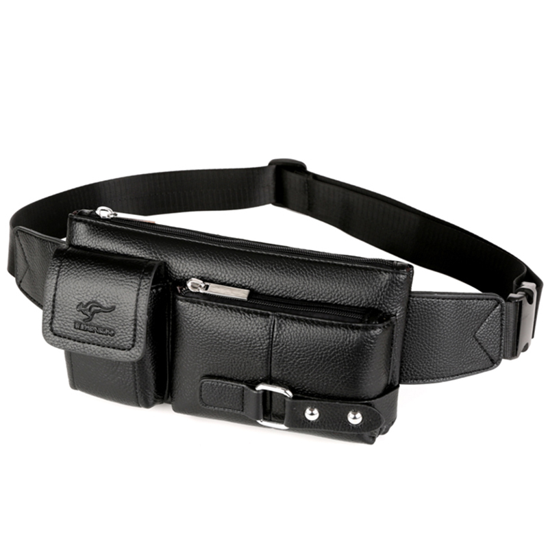 Luxury Brand Waist Bag Men Leather Fanny Pack Chest Bag Male Casual Belt Bags Sling Crossbody Bum Bag Belly Waist Packs Heuptas