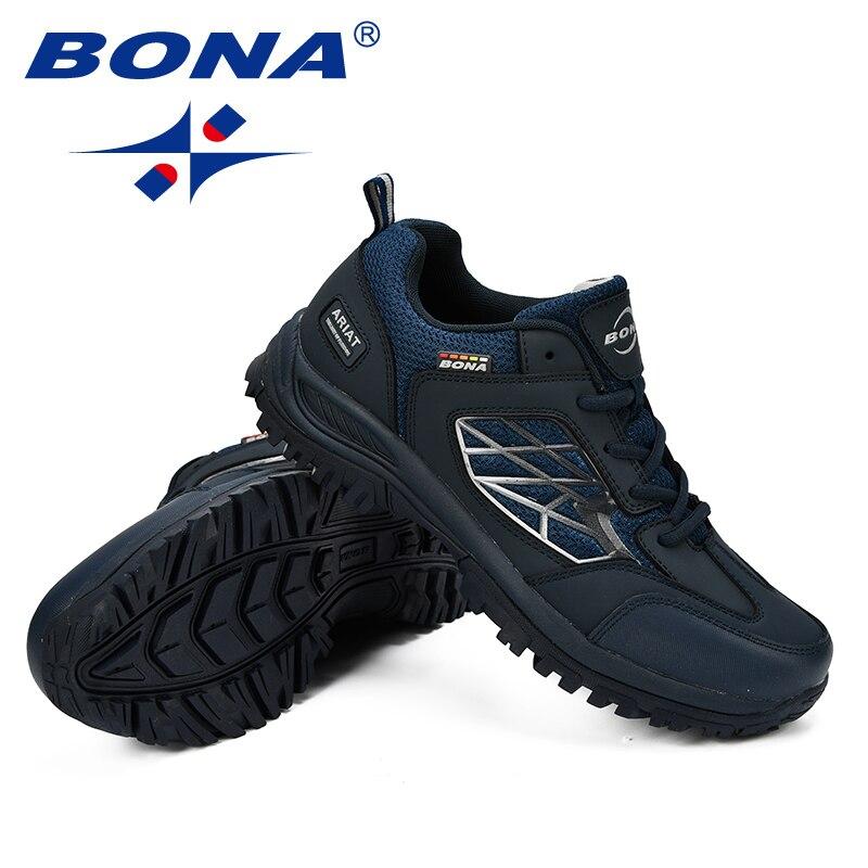 BONA nouveaux classiques Style hommes chaussures de randonnée Action en cuir hommes chaussures de Sport en plein air Jogging chaussures confortable rapide livraison gratuite - 6