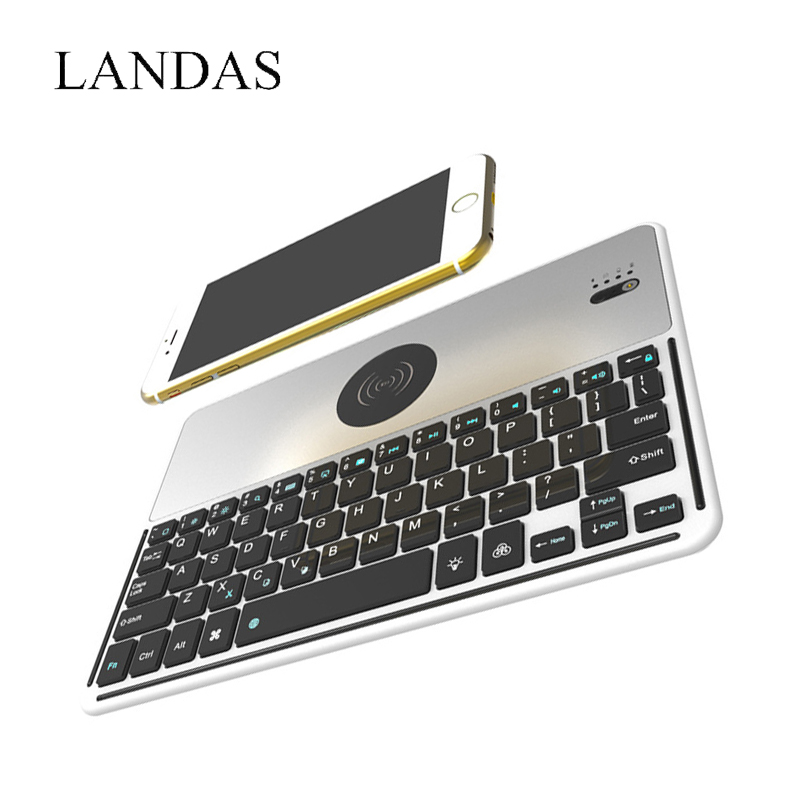 Landas Bluetooth Keyboard for iPhone X Power Bank Keyboard Wireless Rechargeable With Back light Keyboards Mini for iPad Pro 9.7 landas bluetooth keyboard for iphone x power bank keyboard wireless rechargeable with back light keyboards mini for ipad pro 9 7