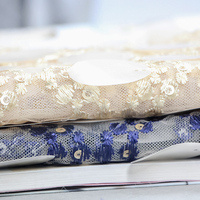 110*100cm High Quality Stylish Petals Mesh Lace Sequin Fabric For Clothes/Party Curtain Accessories Decoration
