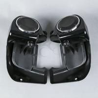 6 1/2 Speaker w/ Grills +Lower Vented Leg Fairing For Harley Touring Road Glide Street Glide 83 13 FLHT FLHR Motorcycle