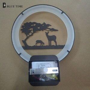 Image 4 - Черный современный светодиодный настенный светильник для гостиной, прикроватный светильник, светодиодное бра для спальни, настенный светильник в стиле АР деко, светодиодный светильник 220 В 110 В