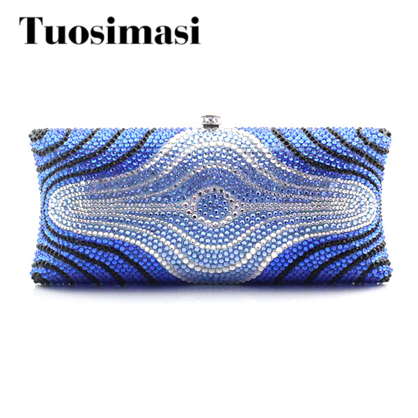 Hot Blue Women Bridal Evening Clutch Bag Wedding Bridal Clutches Bag Handmade Small Women Bag Party Evening Bag women bridal evening clutch bag wedding bridal clutches bag handmade small women bag party evening bags purse pink gold red lady