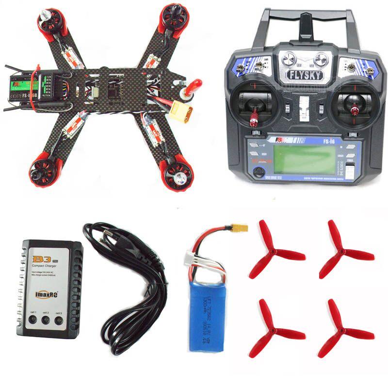 цены QAV210 QAV-X QAV-R QAV 250 frame FLYSKY i6 remote control quadcopter frame kit motor ESC assembled though race FPV mini drone