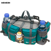 New Multifunctional Sport Waist Bags Outdoor Hiking Running Shoulder Backpack 10 Colors Cycling Waist Bag with Bottle Holders