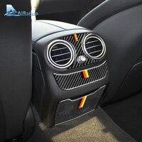 対気速度メルセデスベンツ W205 C クラス C180 C200 C300 GLC アクセサリー炭素繊維車の空調出口カバートリム