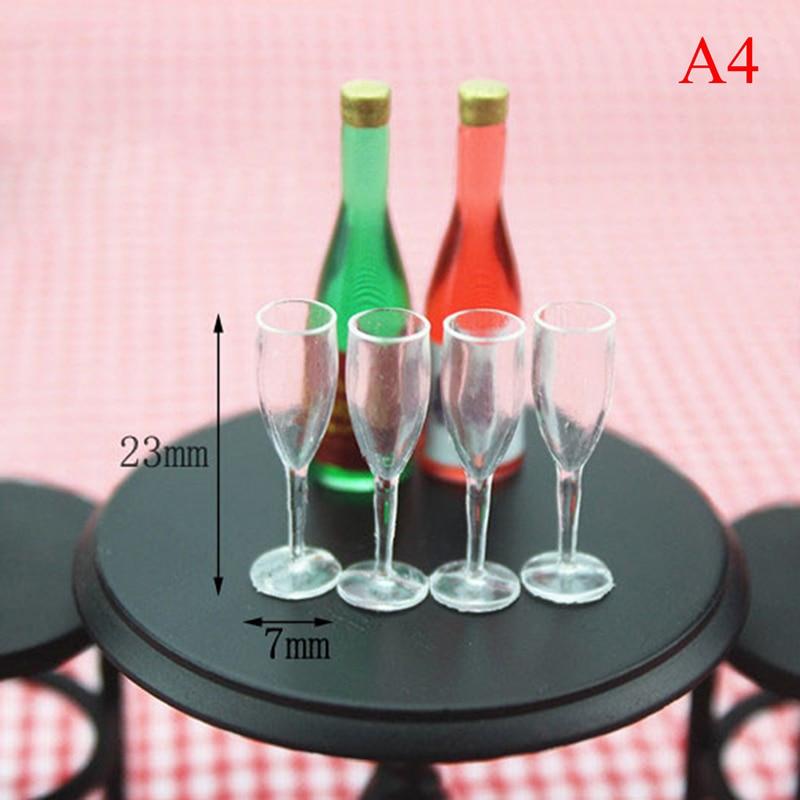 2Pcs 1//12 Dollhouse Miniature Accessories Mini Red Wine Cup Simulation Furnit El