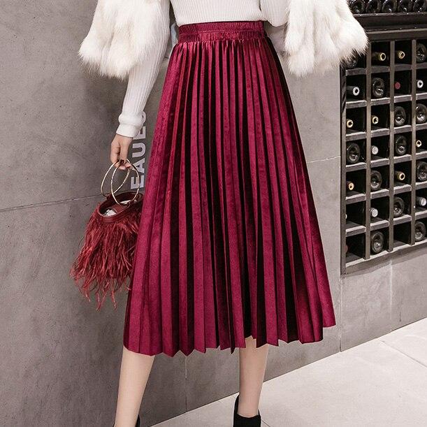 bf0e938d6c2 Jielur Осенняя мода шифон женская юбка сетки сплошной цвет Bouffant ...