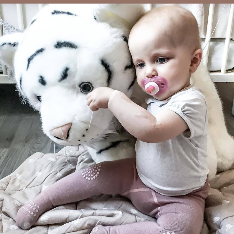 Newborn Baby Animal White Tiger Stuffed Plush Kawaii Pillow Plush Baby Soft Toy Kids Toys For Children's Room Decoration Doll lovely tiger plush toys white tiger toy stuffed tiger doll cute small white tiger pillow birthday gift 30cm