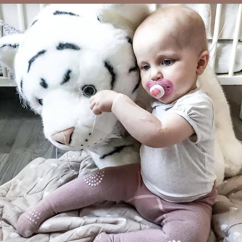 newborn baby animal white tiger stuffed plush kawaii pillow plush baby soft toy kids toys for children s room decoration doll