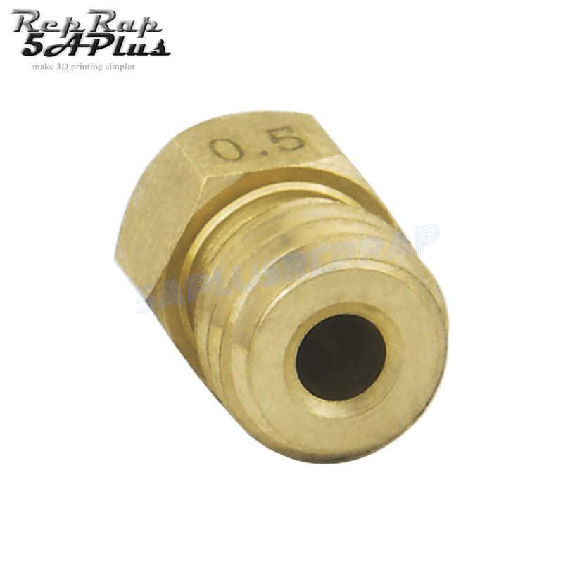 5 Pcs MK8 Kuningan Nozzle 0.2 Mm 0.3 Mm 0.4 Mm 0.5MM Extruder Print Head Nozzle untuk 1.75 Mm CR10 CR10S Ender-3 3D Printer Aksesoris